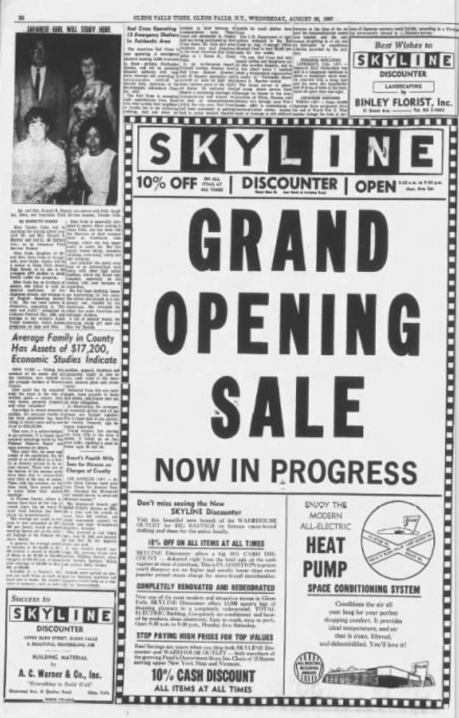 Skyline - Grand Opening ad (GFT 8-23-1967 p24)